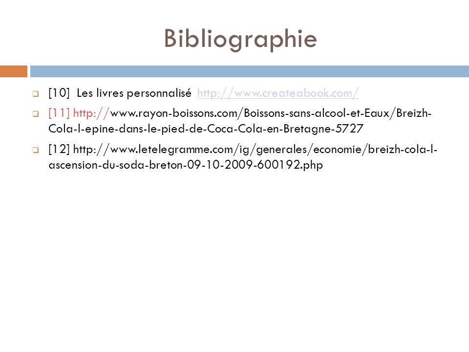 Bibliographie [10] Les livres personnalisé http://www.createabook.com/